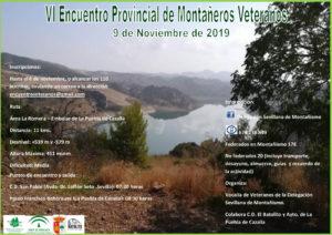 Cartel convocatoria VI encuentro provincial de montañeras y montañeros veteranos 2019